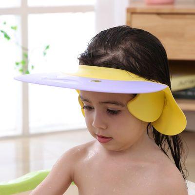 宝宝硅胶洗头帽小孩洗澡神器可调节婴儿童洗发浴帽防水护耳洗发帽