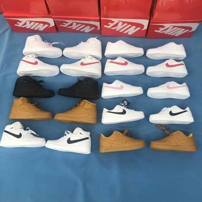 空军一号男鞋AJ女鞋aj小白鞋休闲透气运动鞋AF1白红低帮高帮白粉