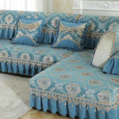欧式简约防滑四季通用布艺全包组合客厅沙发垫套全包罩巾