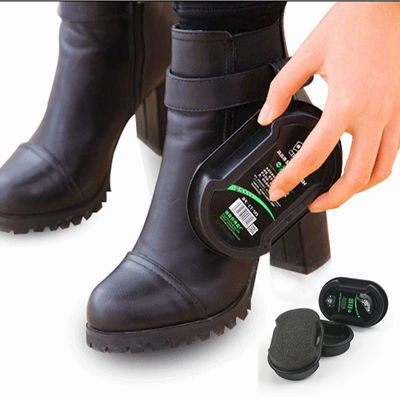 �{��鞋神器的标奇 面海绵鞋擦鞋蜡鞋保养上光亮鞋油无色擦