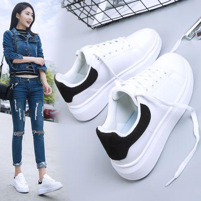春夏季学生韩版厚底小白鞋女2020新款百搭透气单鞋休闲鞋板鞋春夏