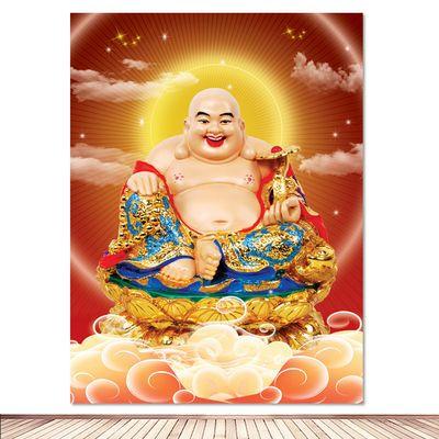 佛像画如来佛祖画像佛教用品海报中堂画镇宅客厅装饰墙画佛堂挂画