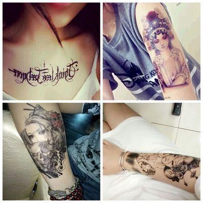水印纹身贴纹身贴防水女彼岸花霸气纹身贴纹身贴防水女社会持久