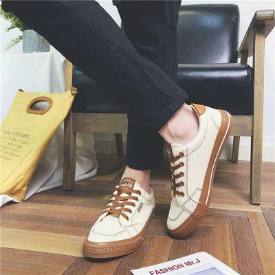 秋季新款学生青少年运动帆布鞋男装韩版男士潮流休闲鞋学生板鞋子