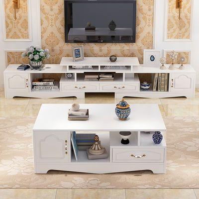 家私客厅家具套装电视柜茶几组合简约伸缩电视柜茶几