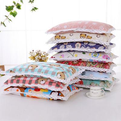 【枕芯+枕套】儿童枕头荞麦皮枕头单人学生儿童纯棉粗布枕头套装