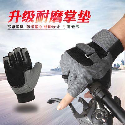 骑行半指手套男女士骑车学生夏季运动健身山地车防滑户外战术手套