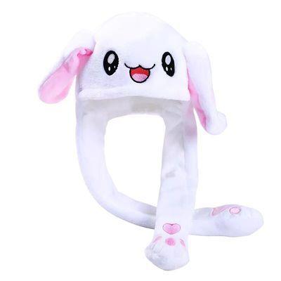 网红会动得兔子帽充气兔长耳朵帽子小兔能动的搞怪可以动少女