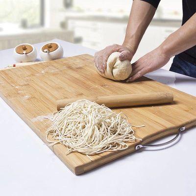三叶花乌檀木整木菜板家用长方形砧板实木厨房案板水果切菜板粘
