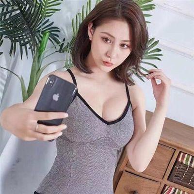 吊带背心女学生韩版无缝内衣百搭V领无袖修身美背交叉性感打底衫