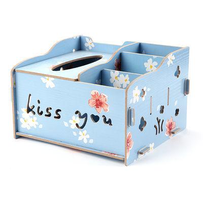 日式卡通毛绒布艺纸巾盒套卧室抽纸盒创意可爱家汽车用纸巾抽包【3月30日发完】