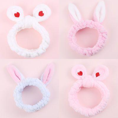 2韩国可爱超萌洗脸束发带洗澡的洗漱柔软敷面膜用的发箍绑发带