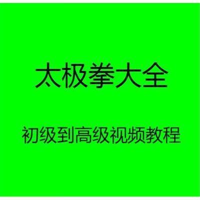 太极拳自学视频教程入门到初级高级陈氏陈式教学杨氏教学太极拳