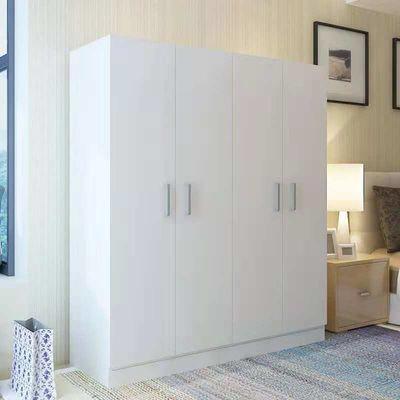 实木衣柜移门推拉门四门木质板式整体趟门大衣柜现代简约组装衣