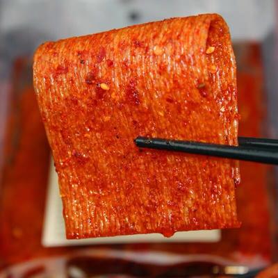 湖南平江网红超辣片辣条儿时手工特产小吃抖音同款重庆麻辣味零食