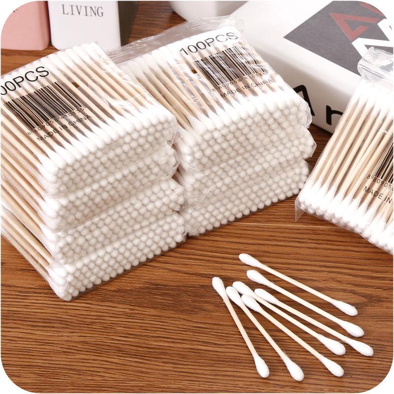 家用包邮一次性双头棉签掏耳朵棉棒圆头化妆卸妆清洁卫生棉花棒