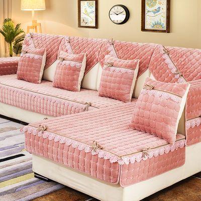 通用防滑毛绒沙发垫套装欧式四季坐垫全包万能沙发套罩加厚靠背巾
