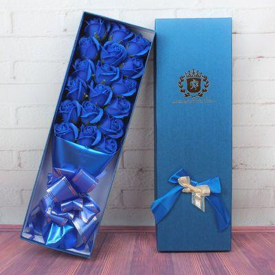 玫瑰花束礼盒女生礼物礼品花康乃馨老师母亲女友情人浪漫香皂花