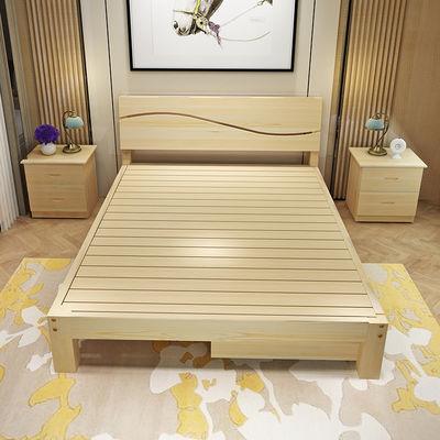 实木床1.8米高箱床1.5米储物床双人床2米大床新中式主卧婚床
