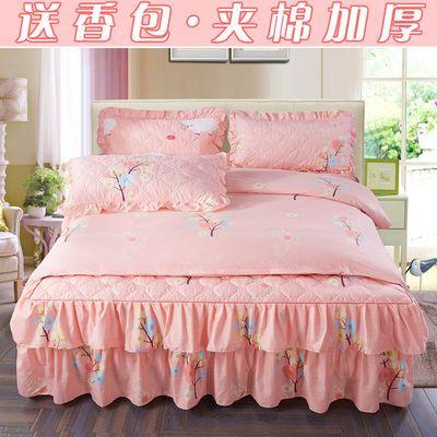 【专柜正品】床裙床上四件套床罩夹棉床单被套结婚三件套床上用品