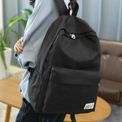 双肩包中学生书包休闲女商务男士旅行大容量电脑背包女孩书包黑色