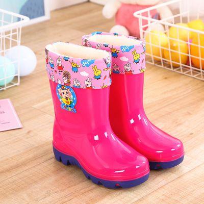 2-10岁儿童雨鞋男女童水鞋加绒卡通胶靴宝宝水靴防滑胶鞋防水雨靴