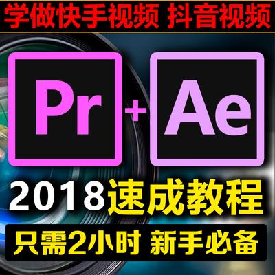 PR+AE CC2018软件速成教程影视剪辑抖音快手视频特效后期制作素材