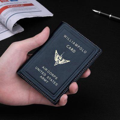 正品保罗男士钱包短款真皮驾驶证皮套钱包男 真牛皮潮流钱夹皮包
