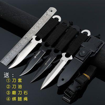 户外刀具绑腿锋利水果刀短刀小直刀高硬度军工刀防身随身非折叠刀