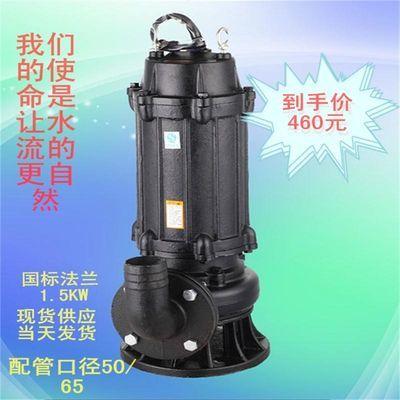 人民法兰污水污物潜水电泵化粪池排污工业抽水机农业灌溉深井取水