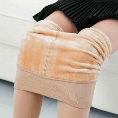 新款加绒打底裤女外穿显瘦光腿加厚保暖神器冬季裤袜加大踩脚裤