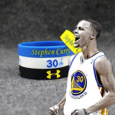 24球星头像版篮球训练手环硅胶橡胶手带夜光运动腕带情侣大小号