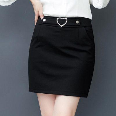 防走光黑色短裙女高腰包臀一步裙韩版春夏装新款时尚百搭职业裙子