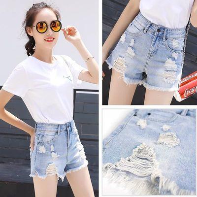 夏季最新款牛仔短裤子女学生韩版宽松2020高腰阔腿破洞显瘦百搭潮