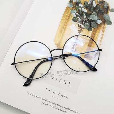 近视眼镜成品金属记忆半框眼镜框架防辐射平光镜男款眼睛框钛合