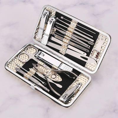 19指甲刀装挖掏耳朵勺美甲套装手脚修剪器鼻毛剪刀不锈钢工具