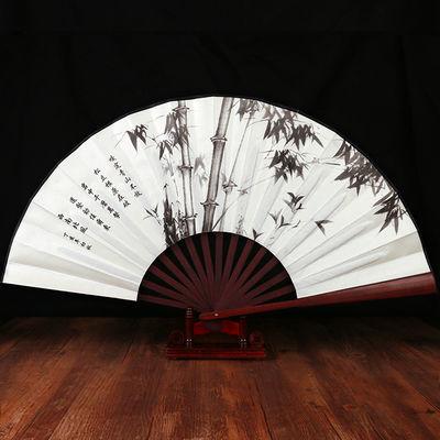 扇子新款纸扇书生古典舞蹈竹骨绢布面折扇白色汉服演出逍遥公子