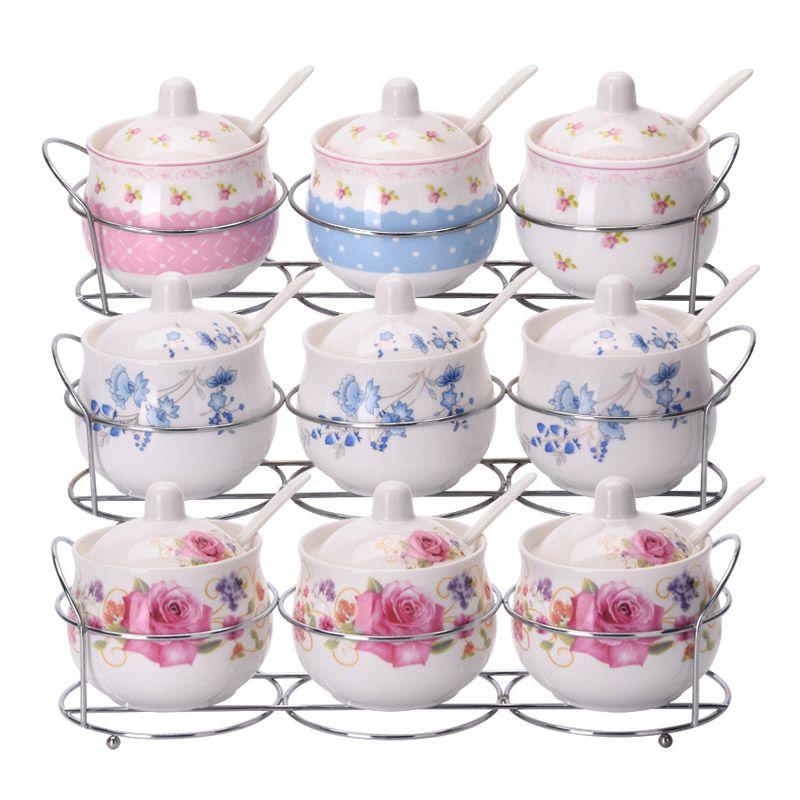 【3-4件套】陶瓷调料罐调料盒调味罐调味盒调料盒调味瓶厨房盐罐