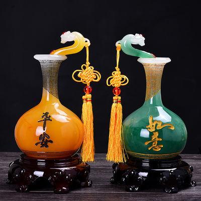 如意平安花瓶客厅摆件装饰品博古架家居玄关电视柜摆设工艺品礼品