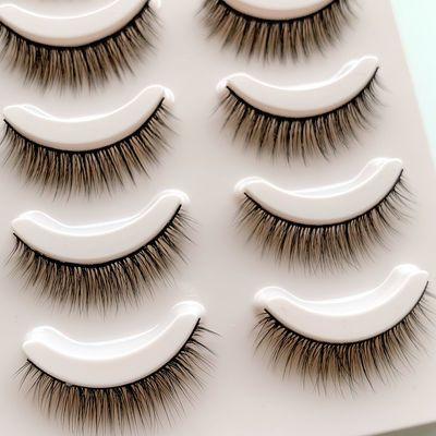 3D假睫毛自然5对装柔软逼真,包邮送胶水呦,每对均可反复使用多次