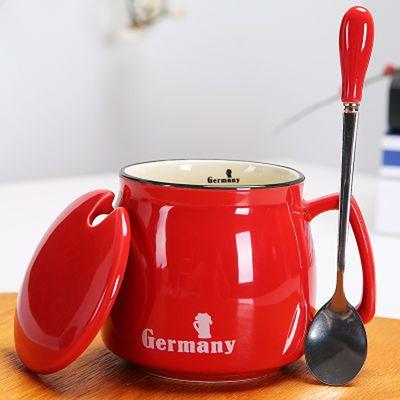 加厚耐热大容量早餐杯玻璃马克杯带盖麦杯燕麦杯泡茶杯牛奶杯【3月17日发完】