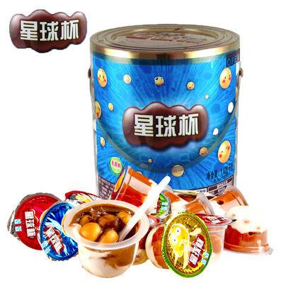 甜甜乐星球杯巧克力饼干桶装1000g/500g大中小杯儿童小孩零食品