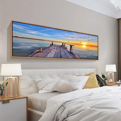 卧室装饰画床头挂画现代简约北欧客厅沙发背景墙宾馆风景画有框画