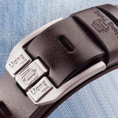 【买一送三】男士腰带青年百搭韩版针扣休闲社会中年裤带老年皮带