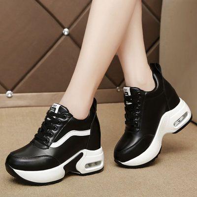 内增高小白鞋女10cm透气网鞋2020春季新款韩版网红百搭运动鞋显瘦