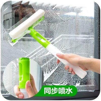 三合一可折叠玻璃清洁器 多用途旋转喷水玻璃刮 喷水海绵擦窗器