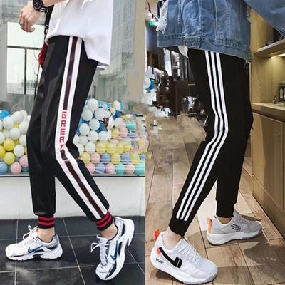 2019夏季新款韩版潮流休闲裤男士修身束脚裤学生大码运动裤子男装