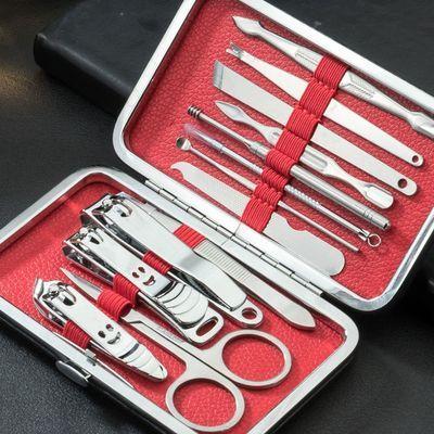 【修甲套装4-19件】指甲刀指甲剪剪指甲套装修脚刀粉刺针指甲钳