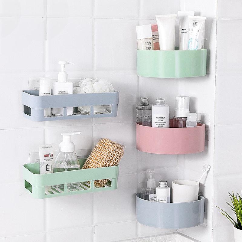 【掉落包赔】卫生间置物架壁挂浴室卧室厕所墙上置物架免打孔加厚
