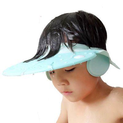 宝宝硅胶洗头帽儿童可调节洗发帽小孩洗澡神器护耳硅胶浴帽婴幼儿